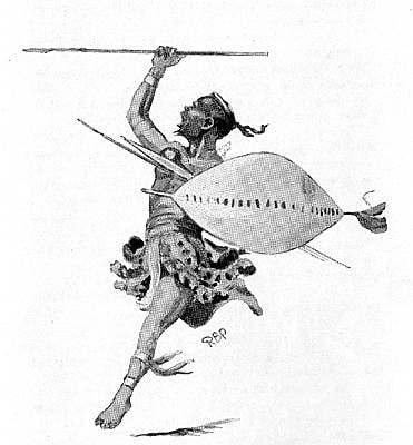 Zulu Warrior Depiction