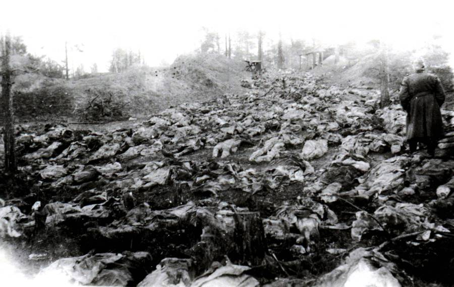 Bodies Piled Katyn Massacre