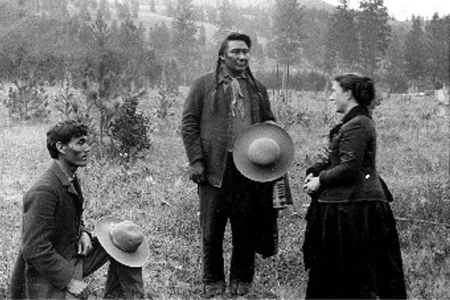 Chief Joseph Meets With Settler