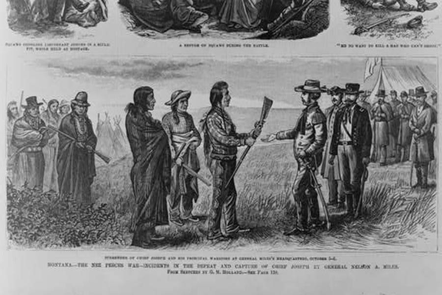 Chief Joseph Political Cartoon