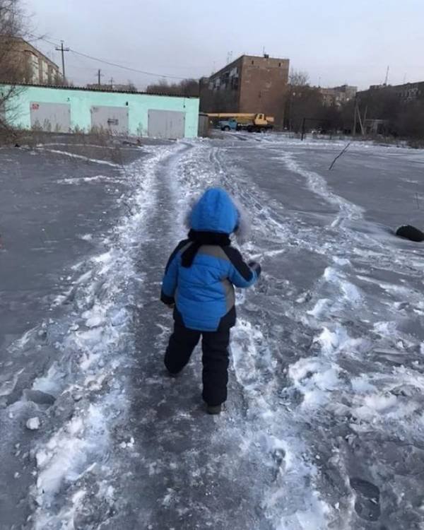 Child In Black Snow