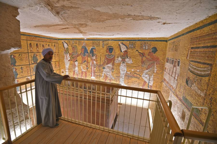Egyptian Man Tomb Visit