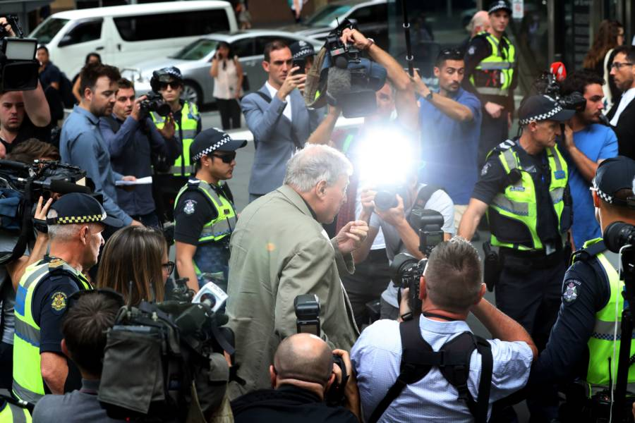 George Pell Hounded By Media