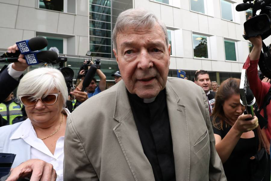 George Pell Outside Court