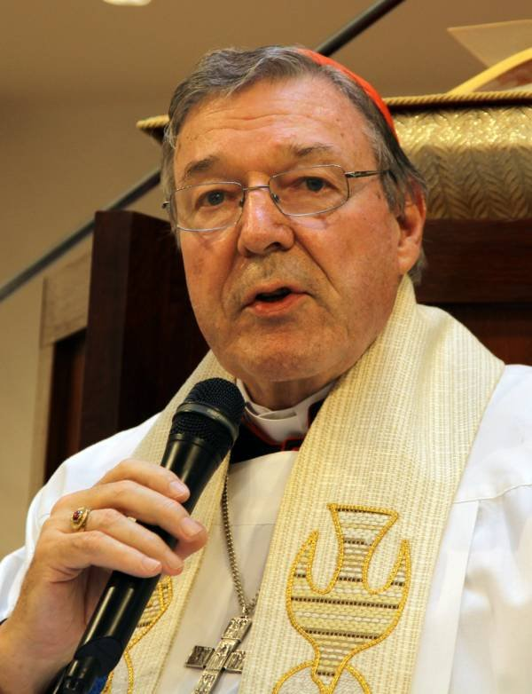 George Pell With Microphone