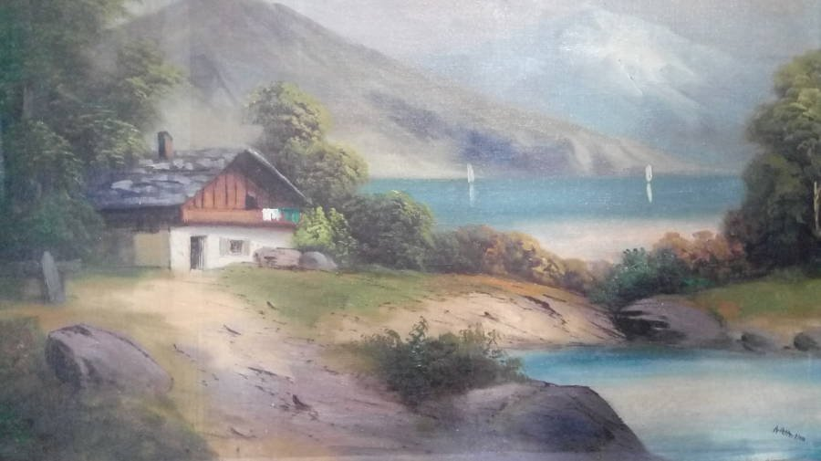 Hitlers Haus Am See Painting