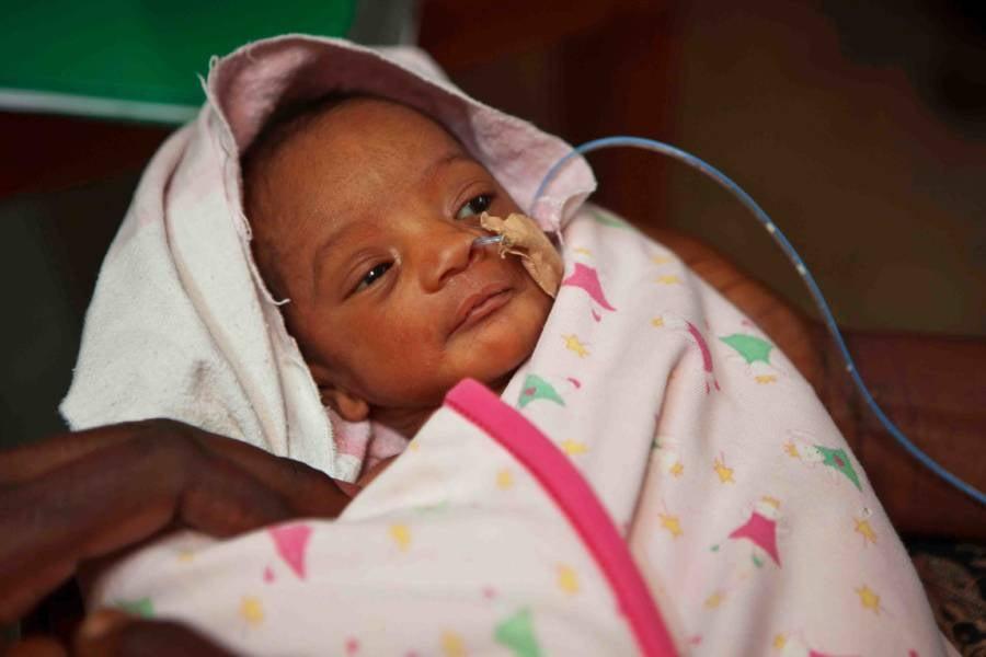 Intubated Newborn