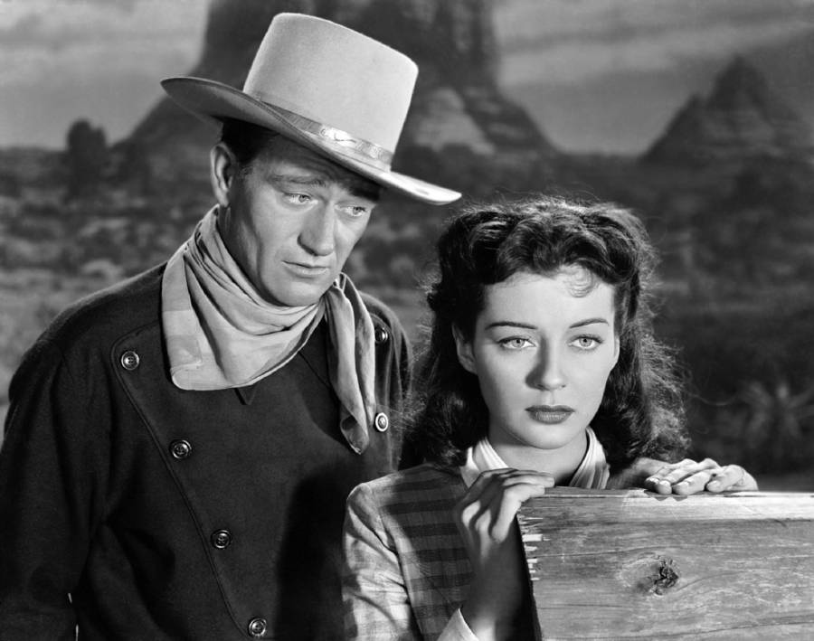 John Wayne And Gail Russell