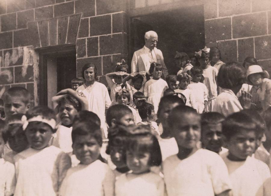 Fridtjof Nansen With Armenian Orphans