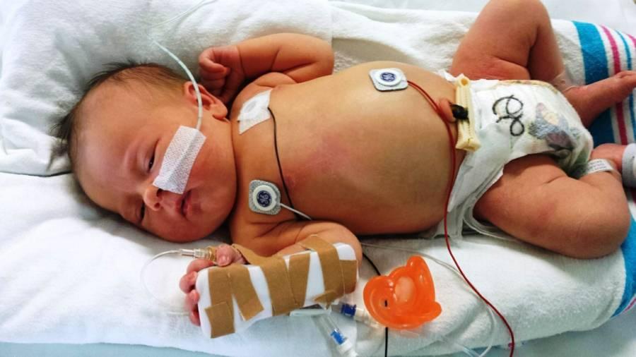 Newborn Girl In Nicu