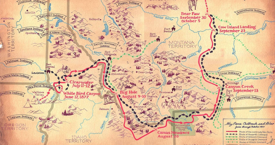 Nez Perce Map