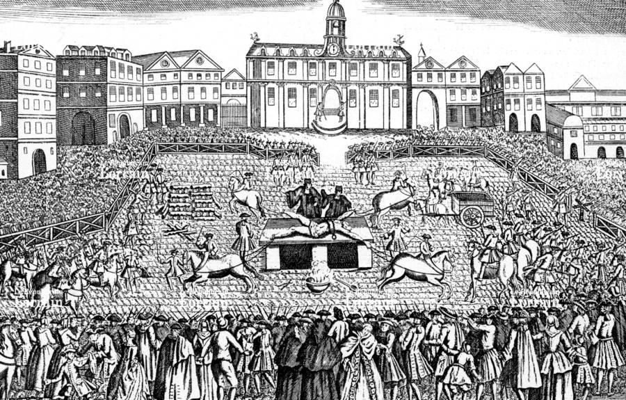 Robert Francois Damiens Execution