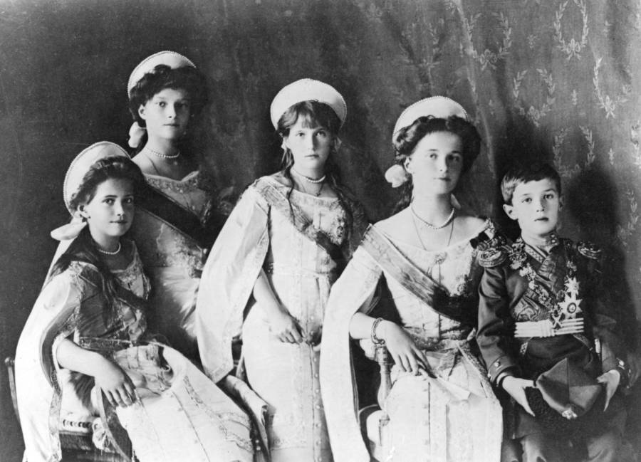 Maria Romanov And Her Siblings