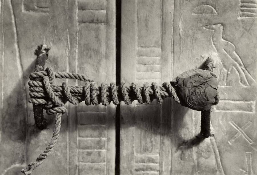 Sealed Door Of Tutankhamun's Tomb