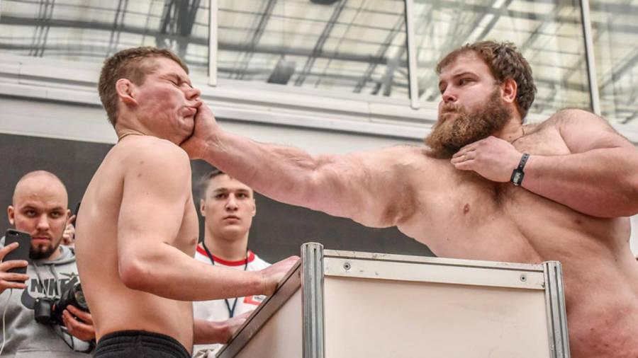 Vasily Kamotskiy Slapping An Opponent