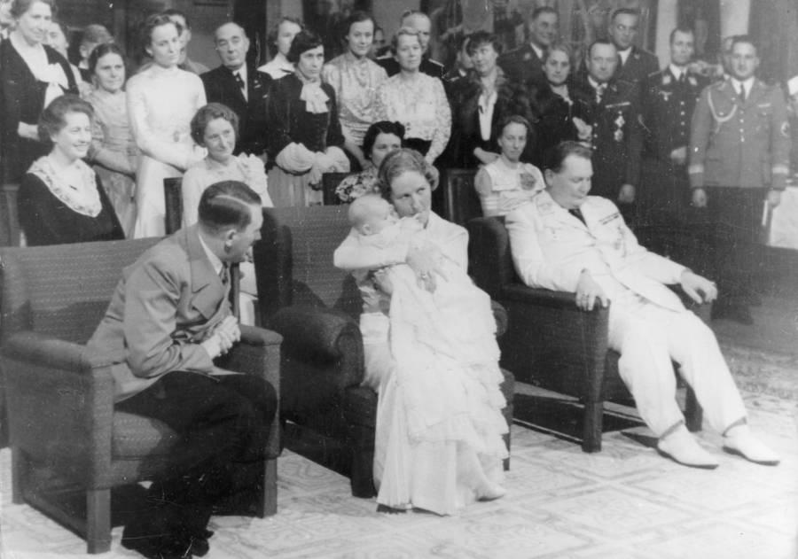 Adolf Hitler With Edda Goering And Hermann Goering