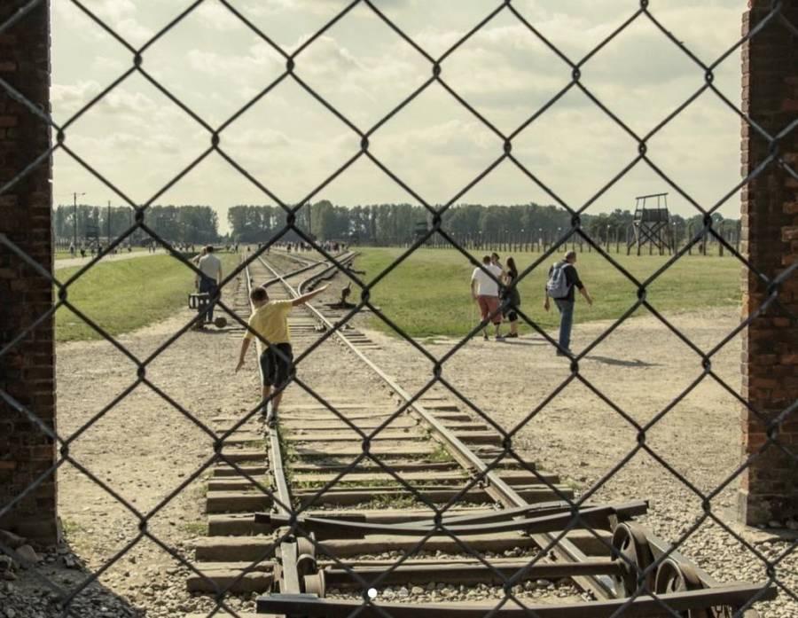 Auschwitz Train Track Balancing 4
