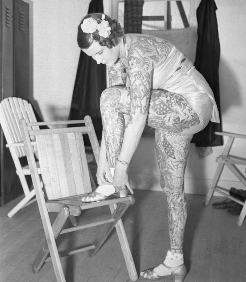 Betty Broadbent Tattooed Woman
