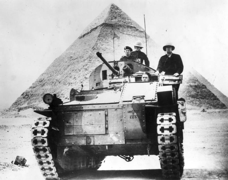 British Tank Egyptian Pyramid