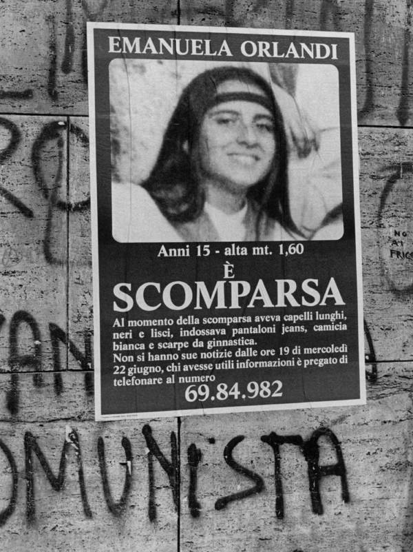 Poster About Emanuela Orlandi's Disappearance