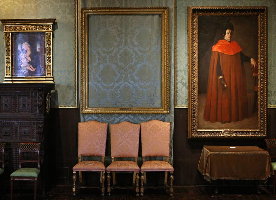 Empty Frames From Stewart Gardner Museum Heist