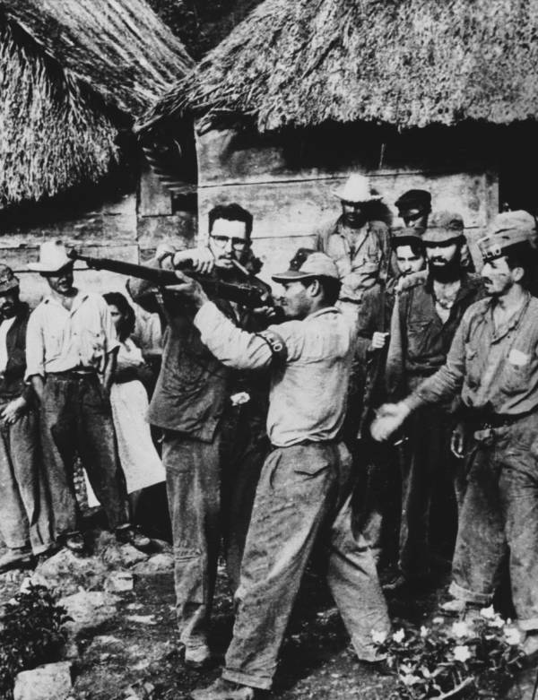 Fidel Castro Training Troops