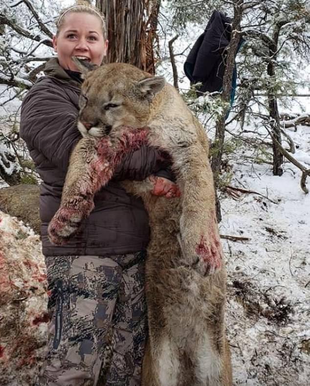 Franchesca Esplin Holding Mountain Lion