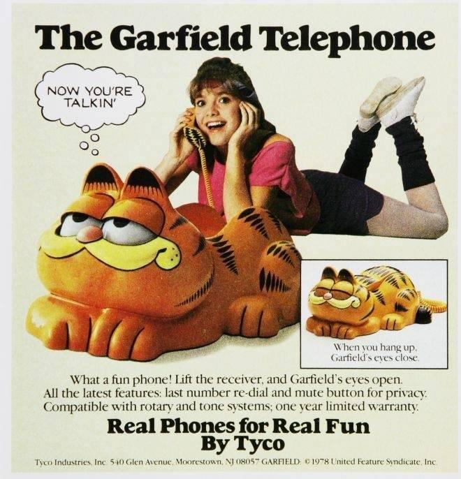 Garfield Phone Advertisement
