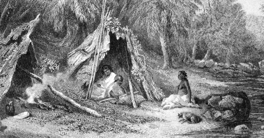 Hunter Gatherer Illustration