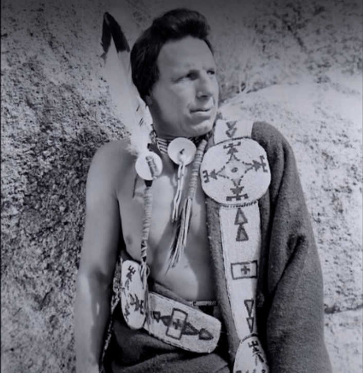 Iron Eyes Cody Poses In Full Dress