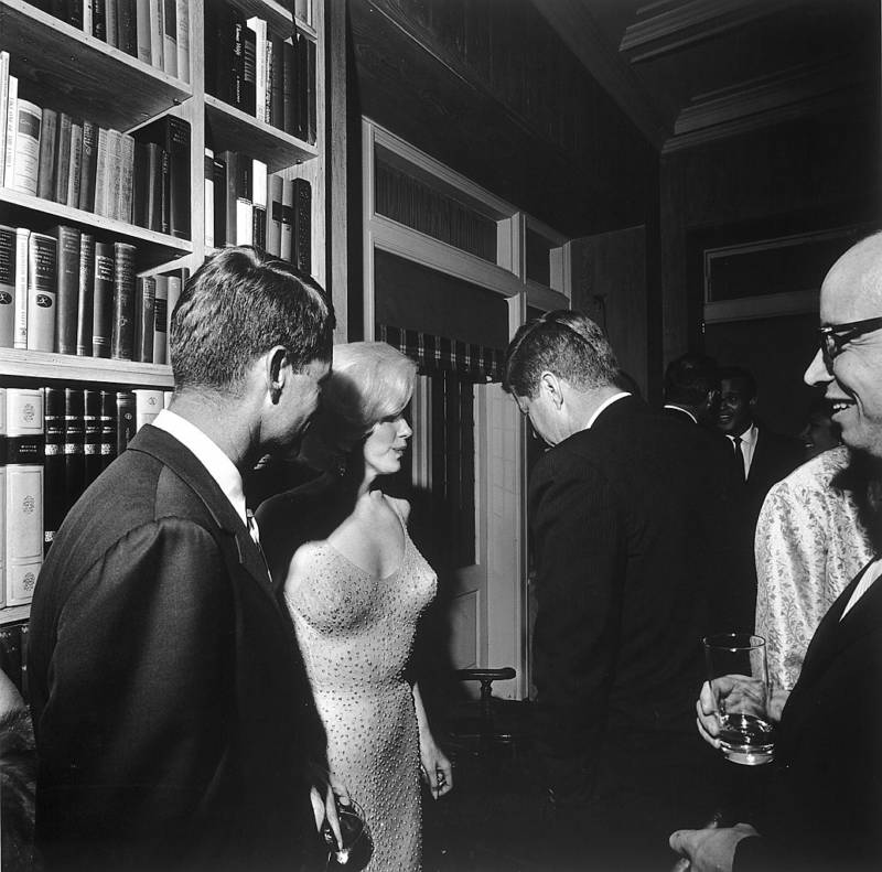 Marilyn Monroe With Kennedy Brothers