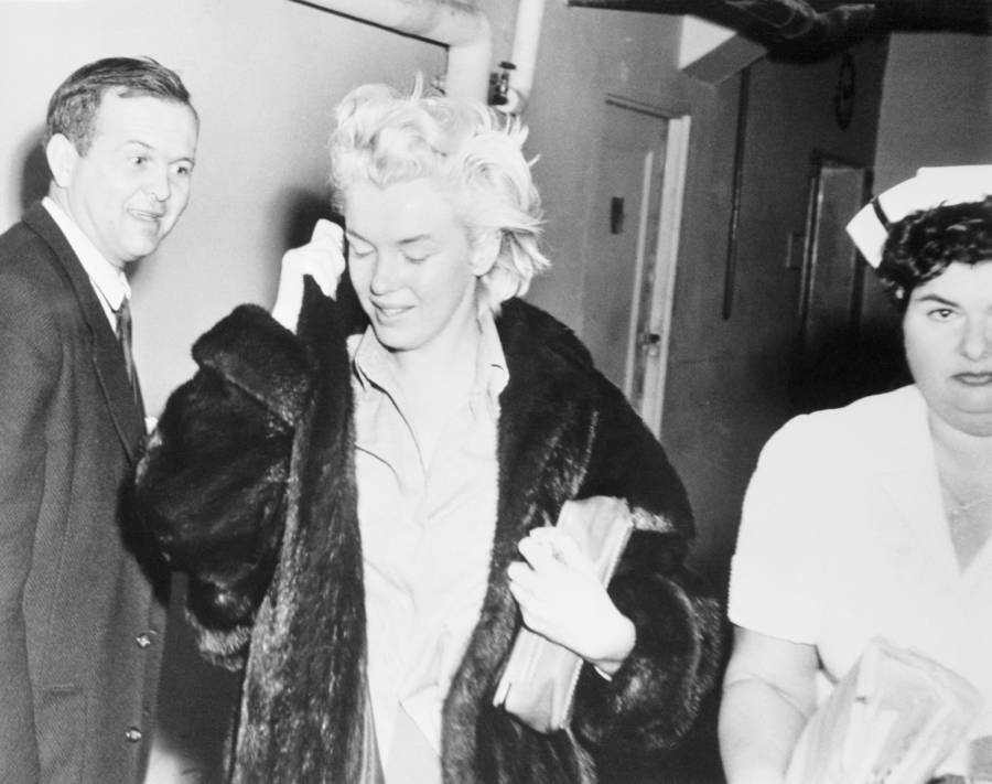 Marilyn Monroe Leaving The Hospital