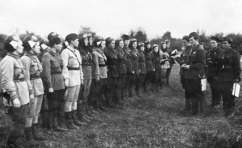 Night Witches in field