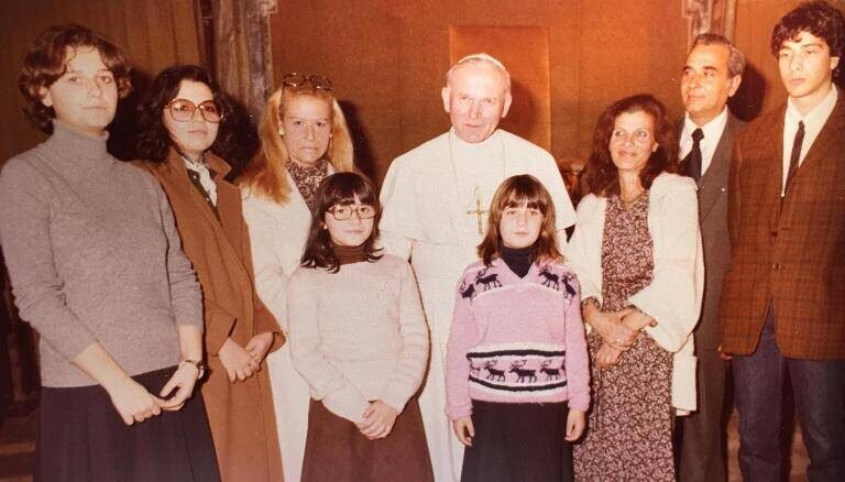 Pope John Paul II With The Orlandi Family