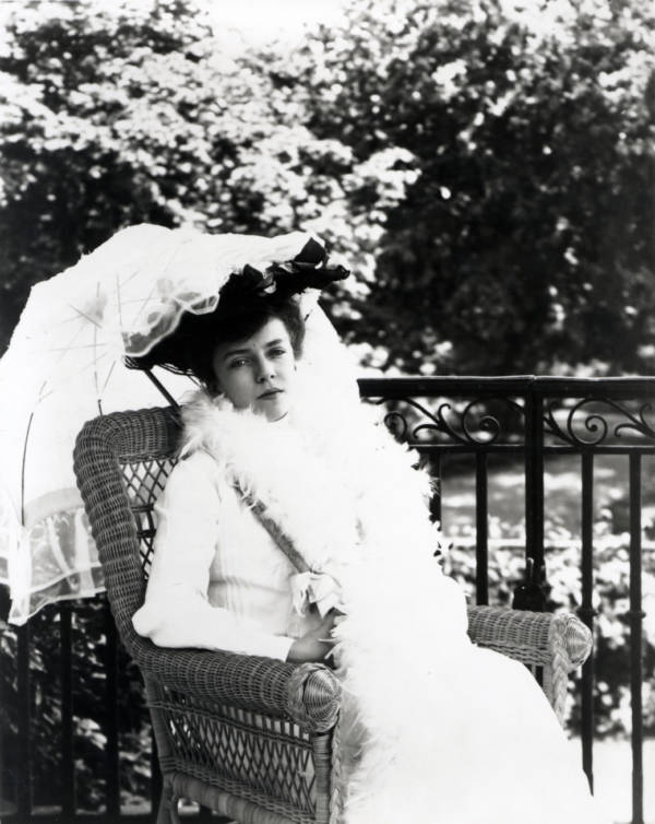 Alice Roosevelt Longworth With Parasol