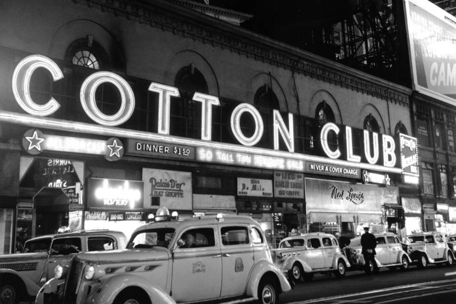 Taxis Outside Cotton Club