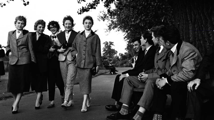 Teddy Boys And Girls In London
