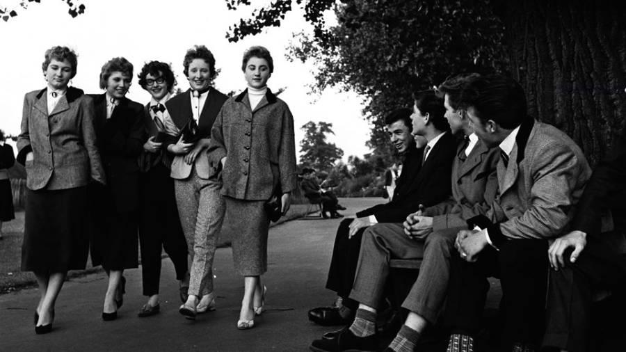 Teddy Boys And Girls In London