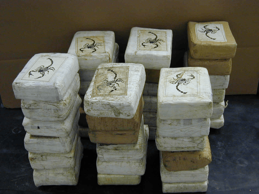 Blocks Of Cocaine With A Scorpion On Them