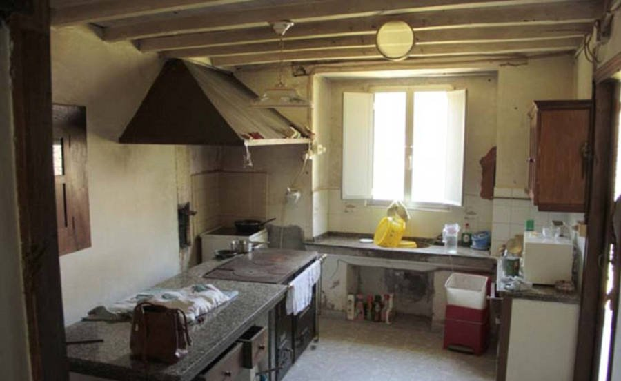 Abandoned Kitchen In Village