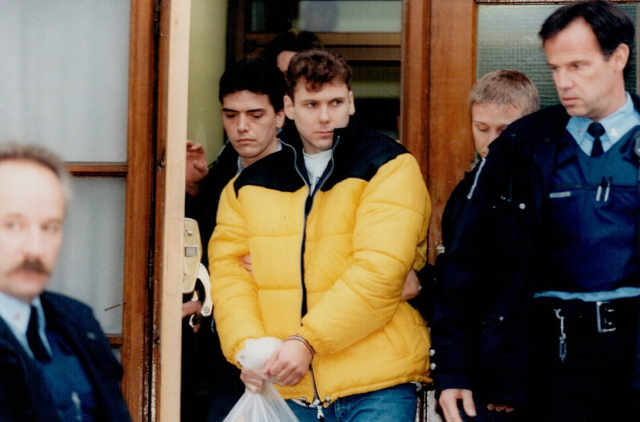 Paul Bernardo Leaving Court