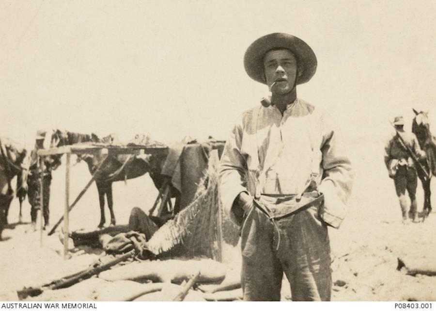 Billy Sing Smoking In Gallipoli