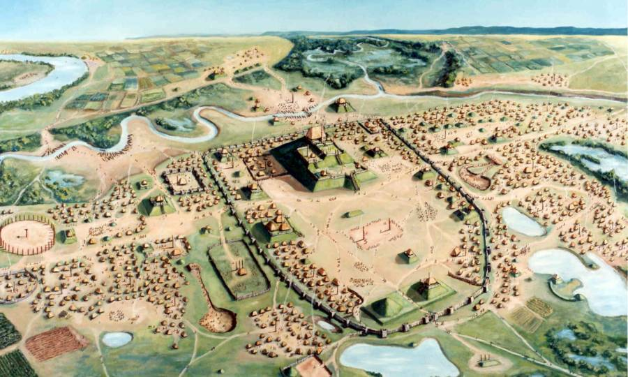 Aerial View Of Cahokia