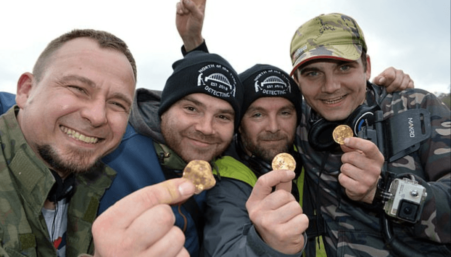 Metal Detectorists Group Find Valuable Coins