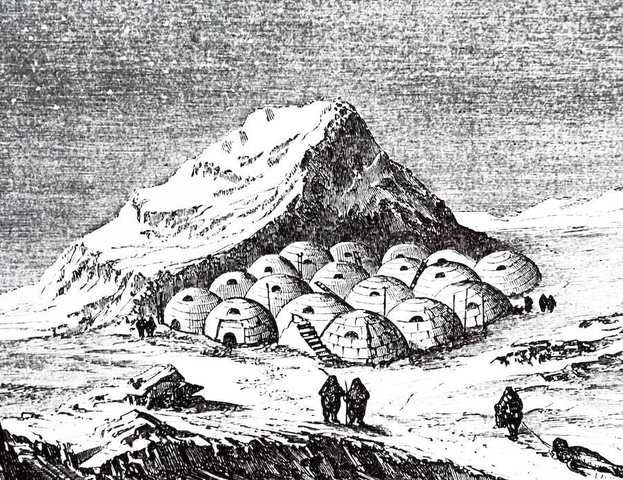 Eskimo Village In Alaska