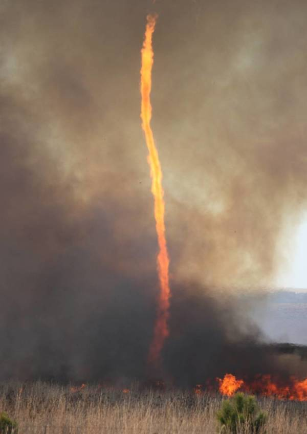 A Fire Tornado Rages In 2016