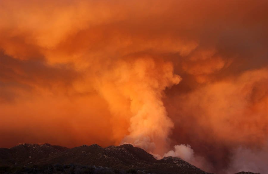 Fire Whirl At Anza Borrego Desert State Park