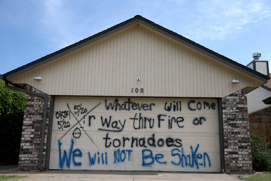 Grafitti In Oklahoma Mentioning Fire Tornadoes