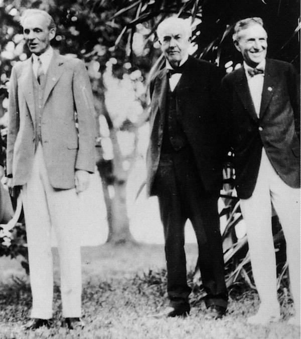 Henry Ford With Thomas Edison And Harvey Firestone