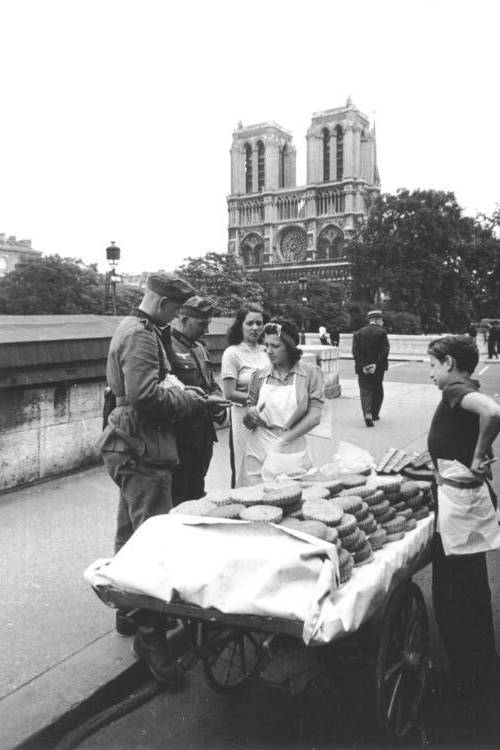 German Soldiers Near Notre Dame